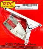 Interior & Cockpit - Racing Power - Racing Power Rectangle Pedal Assembly Gas Floor Mount Aluminum - Chrome