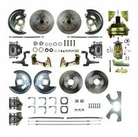 """Recently Added Products - Right Stuff Detailing - Right Stuff Detailing 4 Wheel Power Disc Conversion Brake System Complete 1 Piston 11.00"""" Rotors - Offset Hat"""
