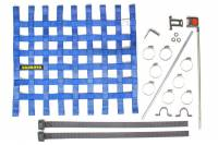 "Window Nets - Mesh Window Nets - Schroth Racing - Schroth 20"" x 18.5"" Window Net Kit w/Mounting Hardware - Blue"