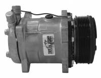 Cooling & Heating - Tuff Stuff Performance - Tuff Stuff 508 Compressor R134A Plain Serpentine
