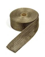 "Thermo-Tec - Thermo-Tec 2"" Wide Exhaust Wrap 50 ft Roll Woven Fiberglass Carbon Fiber Look - Each"