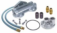 Oil Filter Relocation Kits and Mounts - Oil Filter Relocation Kits - Trans-Dapt Performance - Trans-Dapt Dual Oil Filter Relocation Kit - 18mm x 1.5 Threads