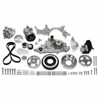 Engine Components - Vintage Air - Vintage Air Front Runner Pulley Kit 6 Rib Serpentine Aluminum Polished - GM LS-Series