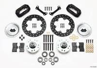 """Front Brake Kits - Drag - Wilwood Forged Dynalite Big Brake Front Hub Kits - Wilwood Engineering - Wilwood Dynalite Brake System Front 4 Piston Caliper 10.750"""" Drilled Steel Rotor - Offset"""