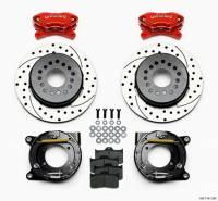 """Rear Brake Kits - Street / Truck - Wilwood Forged Dynalite Rear Parking Brake Kits - Wilwood Engineering - Wilwood Dynalite Brake System Rear 12"""" Drilled/Slotted Iron Rotor - Offset Hat/Parking Brake - Red"""