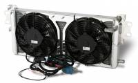 Cooling & Heating - AFCO Racing Products - AFCO Racing Products Dual Pass Heat Exchanger Fan Included Aluminum Natural - GT500
