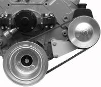 Power Steering Pump Mounts - Block Mount Brackets - Alan Grove Components - Alan Grove Components Power Steering Bracket - BB Chevy - Electric Water Pump - LH