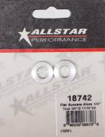 "Radius Rods & Rod Ends - Rod Spacers - Allstar Performance - Allstar Performance Aluminum Flat Spacer 3/8"" I.D., 1/4"" Long"