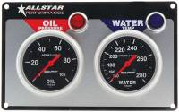Dash Gauge Panels - 2 Gauge Dash Panels - Allstar Performance - Allstar Performance Auto Meter Sport-Comp 2 Gauge Panel - OP/WT