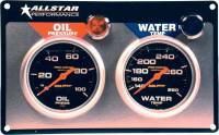 Gauges and Data Acquisition - Allstar Performance - Allstar Performance Auto Meter Pro-Comp Liquid-Filled 2 Gauge Panel - WT/OP
