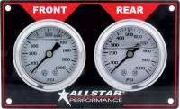 Dash Gauge Panels - Brake Bias Dash Panels - Allstar Performance - Allstar Performance Horizontal Brake Bias Gauge Panel