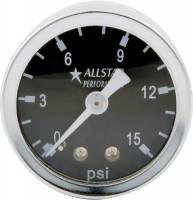 "Analog Gauges - Fuel Pressure Gauges - Allstar Performance - Allstar Performance 0-15 PSI 1-1/2"" Gauge - Glycerin Filled"
