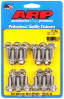 Oil Pan Parts & Accessories - Oil Pan Bolts & Studs - ARP - ARP BB Ford Stainless Steel Oil Pan Bolt Kit - 6 Point