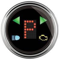 "Gauges & Dash Panels - Shift Lights - Auto Meter - Auto Meter 2-1/16"" Gauge - PRNDL+ Black Face / Chrome Bezel"