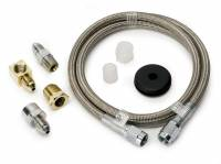 """Gauge Parts & Accessories - Gauge Line Kits - Auto Meter - Auto Meter Braided Stainless Steel Hose - 3 Ft. #3 - 3/16"""" I.D. Fittings"""