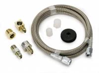 """Gauge Parts & Accessories - Gauge Line Kits - Auto Meter - Auto Meter Braided Stainless Steel Hose - 4 Ft. #3 - 3/16"""" I.D. Fittings"""
