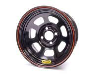 "Bassett Racing Wheels - Bassett D-Hole Lightweight Wheel - 14"" x 7"" - 4 x 4.25"" Bolt Circle - 3"" Back Spacing - Black - 15 lbs."