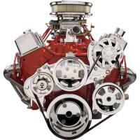 Serpentine Belt Drive Kits - Chevy Serpentine Pulley Systems - Billet Specialties - Billet Specialties Tru Trac Serpentine System - SB Chevy w/o A/C w/ Power Steering
