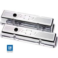 Valve Covers & Accessories - Aluminum Valve Covers - SB Chevy - Billet Specialties - Billet Specialties SB Chevy Bowtie Short Valve Covers - SB Chevy - (Set of 2)
