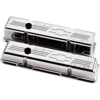 Valve Covers & Accessories - Aluminum Valve Covers - SB Chevy - Billet Specialties - Billet Specialties Polished SB Chevy Tall Valve Covers - Chevy Power Logo - SB Chevy - (Set of 2)