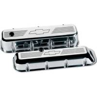Engine Components - Billet Specialties - Billet Specialties BB Chevy Bowtie Valve Covers - Tall - Polished - BB Chevy - (Set of 2)