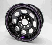 "4 x 4-1/4"" Bolt Pattern Wheels - 14"" x 7"" - 4 x 4-1/4""  Wheels - Bart Wheels - Bart Multi-Fit Mini Stock Wheel - Black - 14"" x 7"" - 4 x 4.25"", 4 x 4.50"" Bolt Circle - 3"" Back Spacing - 18 lbs."