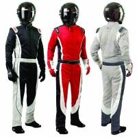 Simpson Racing Suits - Simpson Crossover Driving Suit - $599 - Simpson Race Products - Simpson Crossover Racing Suit - Gray / White / Graphite