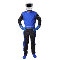 Racing Suits - SFI-5 Rated Multi-Layer Suits - Pyrotect - Pyrotect Sportsman Deluxe 2 Layer Nomex® Suit - Blue / Black