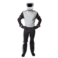 Racing Suits - SFI-5 Rated Multi-Layer Suits - Pyrotect - Pyrotect Sportsman Deluxe 2 Layer Nomex® Suit - Grey / Black