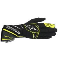 Sponsored Drivers - Alpinestars Gloves - Sponsored Driver - Alpinestars - Alpinestars Tech 1-Z Glove - Black/Anthracite/Yellow Fluo