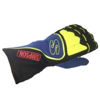 Simpson Gloves - Simpson DNA Gloves - $179.95 - Simpson Race Products - Simpson DNA Gloves - Black / Blue