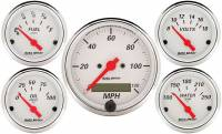 Gauges & Dash Panels - Gauge Kits - Analog - Auto Meter - Auto Meter Arctic White Street Rod Kit - Includes 3-1/8 in. 120 MPH Electric Speedometer