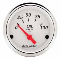 """Oil Pressure Gauges - Electric Oil Pressure Gauges - Auto Meter - Auto Meter Arctic White Oil Pressure Gauge - 2-1/16"""""""