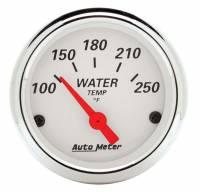 "Water Temp Gauges - Electric Water Temp Gauges - Auto Meter - Auto Meter Arctic White Water Temperature Gauge - 2-1/16"""