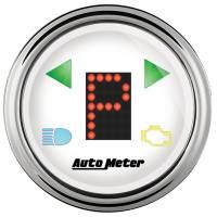 "Gauges & Dash Panels - Shift Lights - Auto Meter - Auto Meter 2-1/16"" Gauge - PRNDL+ White Face / Chrome Bezel"
