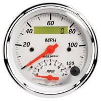 Tachometers - Tachometer / Speedometer Combos - Auto Meter - Auto Meter Arctic White Tachometer / Speedometer Combo - 3-3/8 in.