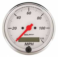 Speedometers - Electric Speedometers - Auto Meter - Auto Meter Arctic White Electric Programmable Speedometer - 3-1/8 in.