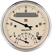 Speedometers - Speedometer / Tachometer Combos - Auto Meter - Auto Meter Antique Beige Tachometer / Speedometer Combo - 3-3/8 in.