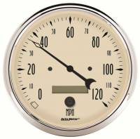 Speedometers - Electric Speedometers - Auto Meter - Auto Meter Antique Beige Electric Programmable Speedometer - 5 in.