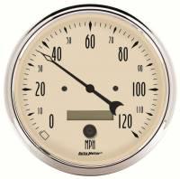 Analog Gauges - Speedometers - Auto Meter - Auto Meter Antique Beige Electric Programmable Speedometer - 5 in.