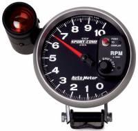 Tachometers - Shift Light Tachometers - Auto Meter - Auto Meter Sport-Comp II Shift-Lite Tachometer - 5 in.