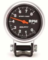"Standard Tachometers - Pedestal Standard Tachs - Auto Meter - Auto Meter 8,000 RPM Sport-Comp Mini Tachometer - 2-5/8"""