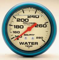 "Water Temp Gauges - Mechanical Water Temp Gauges - Auto Meter - Auto Meter 2-5/8"" Ultra-Nite Water Temp Gauge - 140-280"