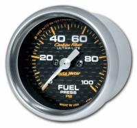 "Gauges - Fuel Pressure Gauges - Auto Meter - Auto Meter Carbon Fiber Electric Fuel Pressure Gauge - 2-1/16"" - 0-100 PSI"