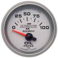 "Oil Pressure Gauges - Electric Oil Pressure Gauges - Auto Meter - Auto Meter 2-1/16"" Ultra-Lite II Electric Oil Pressure Gauge - 0-100 PSI"