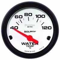 Analog Gauges - Water Temperature Gauges - Auto Meter - Auto Meter 2-1/16 Phantom Water Temp Gauge - Electric
