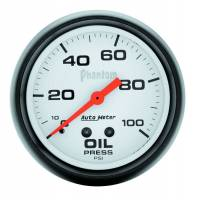 "Gauges - Oil Pressure Gauges - Auto Meter - Auto Meter Phantom Electric Oil Pressure Gauge - 2-5/8"" - 0-100 PSI"