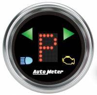 "Gauges & Dash Panels - Shift Lights - Auto Meter - Auto Meter 2-1/16"" Gauge - PRNDL+ Black Face"