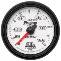 "Analog Gauges - Oil Pressure Gauges - Auto Meter - Auto Meter 2-1/16"" Phantom II Oil Pressure Gauge - 0-100 PSI"