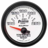 "Analog Gauges - Water Temperature Gauges - Auto Meter - Auto Meter 2-1/16"" Phantom II Electric Water Temperature Gauge - 100-250"